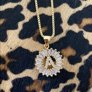 Jewelry - Monogram A Initial Gold Necklace